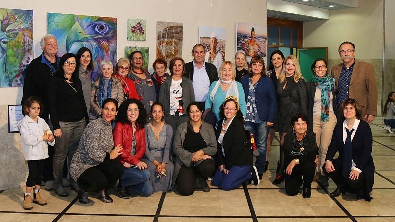 פתיחת התערוכה נשים יוצרות (צילום: שירלי רוזנס)