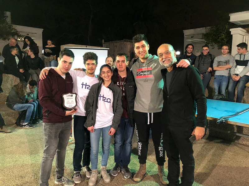 נבחרת הפיסיקה של דה שליט שזכתה בתחרות פיצוח הכספות במכון ויצמן למדע