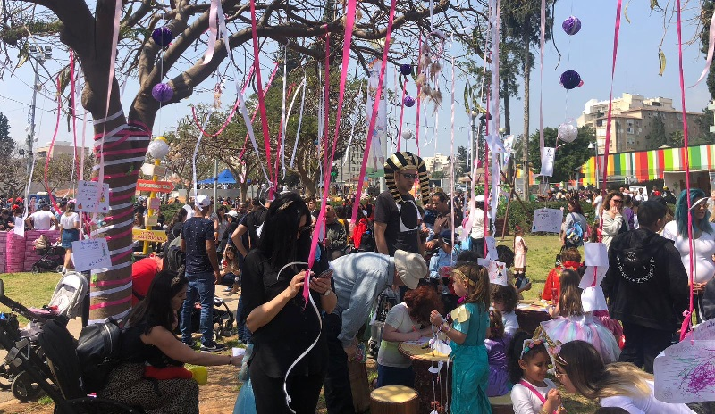 חגיגות פורים בגן המייסדים