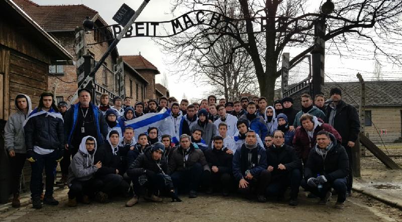 """תלמידי ישיבת אמי""""ת עמיחי בפולין (צילום: תום נודלמן)"""