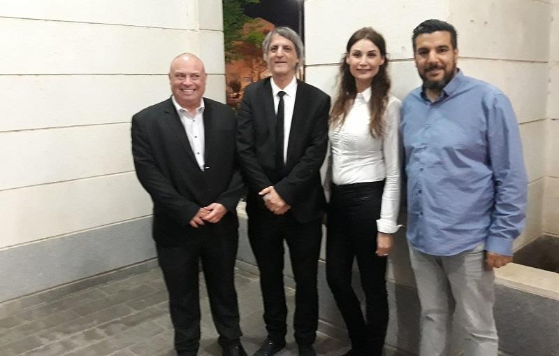 מימין: עורכי הדין שמואל בר דאנזאן, רומי קנבל, אבי חימי ומיכה בסטרצקי