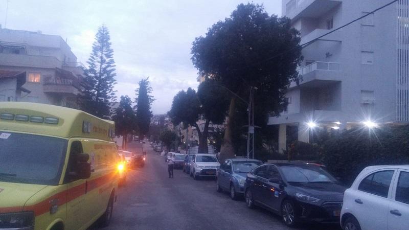 זירת האסון ברחוב ז'בוטינסקי