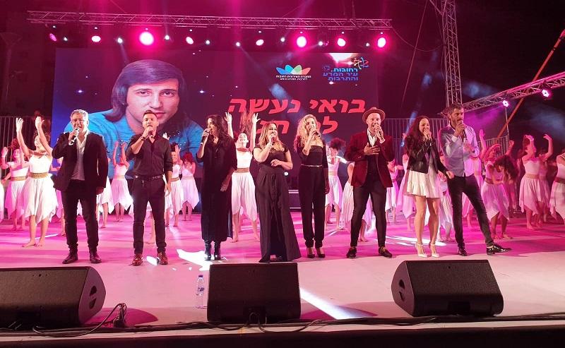 מופע מחווה ליגאל בשן בפסטיבל רוקדים אביב