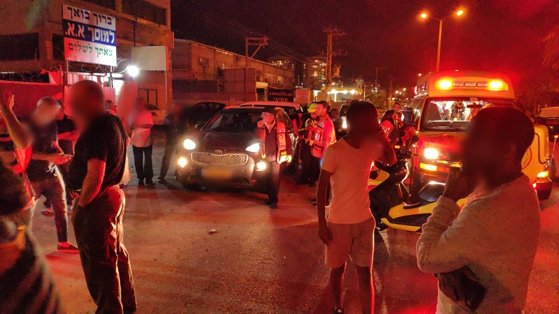 זירת התאונה ברחוב קלמן גבריאלוב