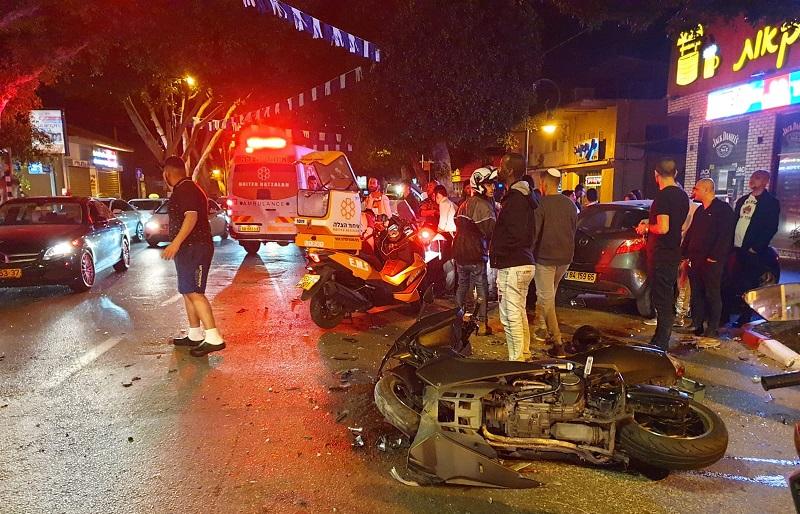 זירת התאונה ברצל (צילום: דוברות איחוד הצלה)