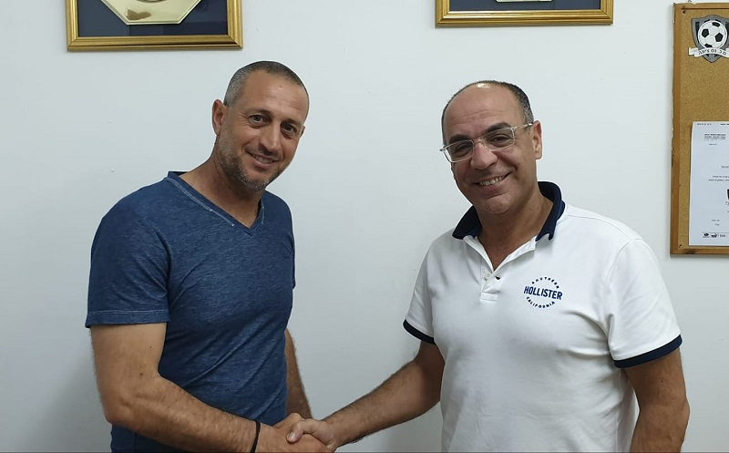 אלי כהן ועמיר תורג'מן לאחר מינויו כמאמן הסקציה נס ציונה