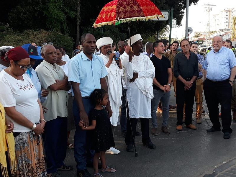 שאול צגהון בטקס לזכר יהודי אתיופיה שנספו בדרכם מסודן לישראל