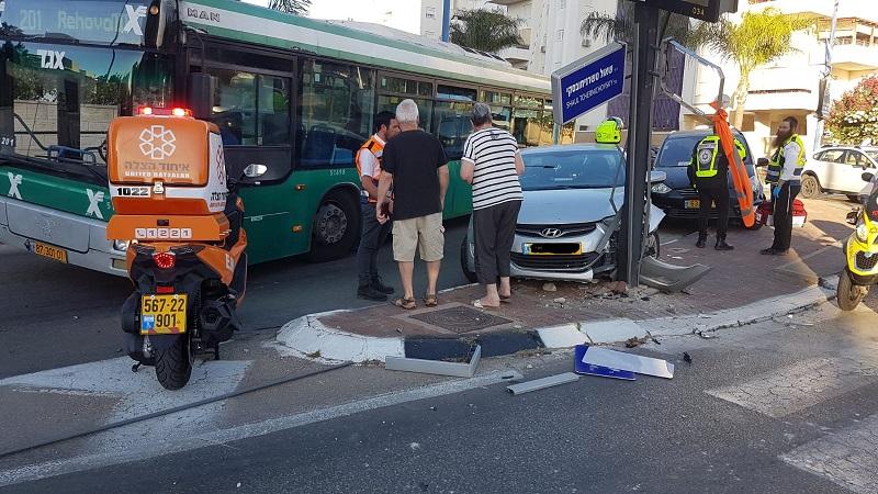תאונה ברחוב טשרניחובסקי ברחובות