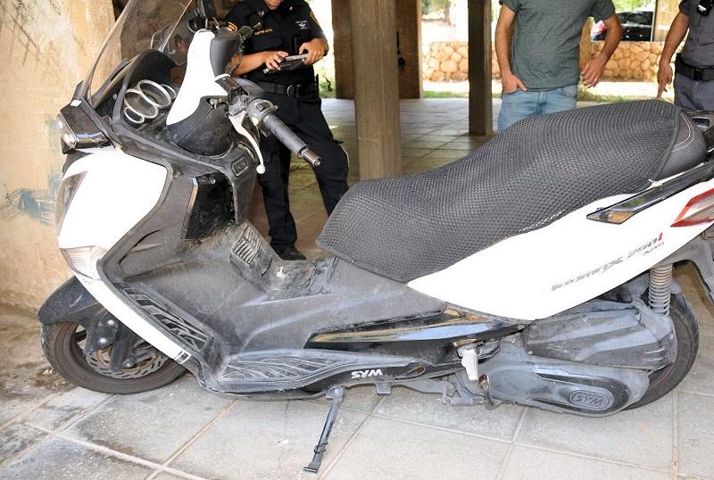 קטנוע שנגנב בשכונת אושיות