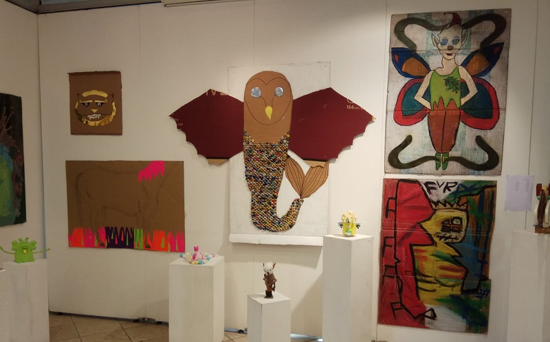 מתוך תערוכת האמנות במסגרת תכנית ילדים מצטיינים בבית האמנים ברחובות