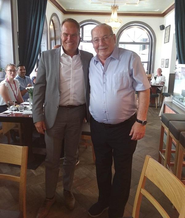 """רחמים מלול עם ראש העיר היידלברג ד""""ר אקרט וורצנר"""