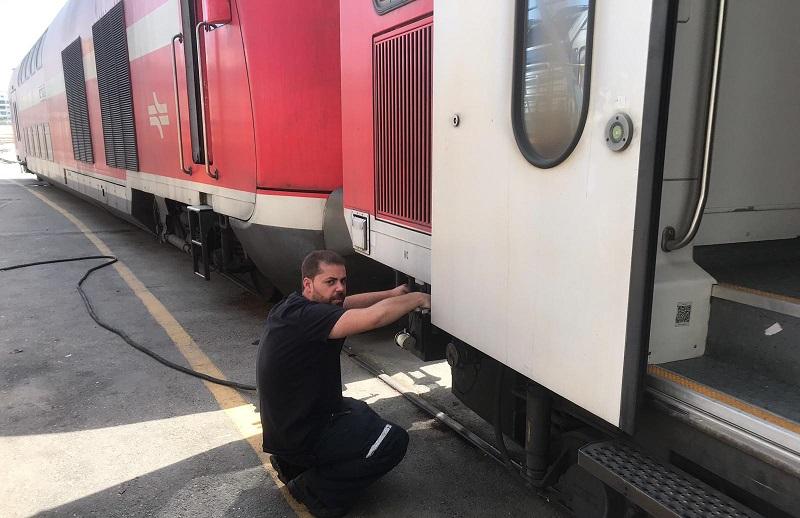 בדיקת רכבת (צילום: דוברות רכבת ישראל)