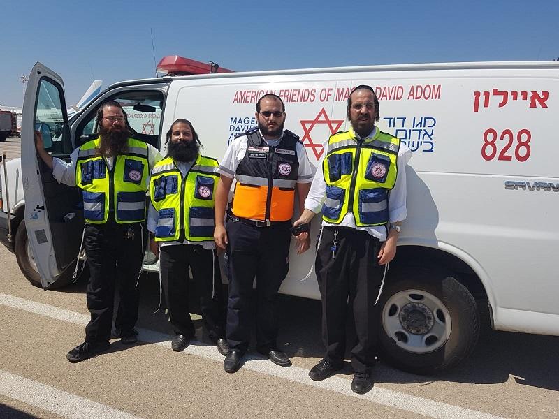 """צוות הצלה רחובות בנתב""""ג (צילום: מד""""א הצלה רחובות)"""