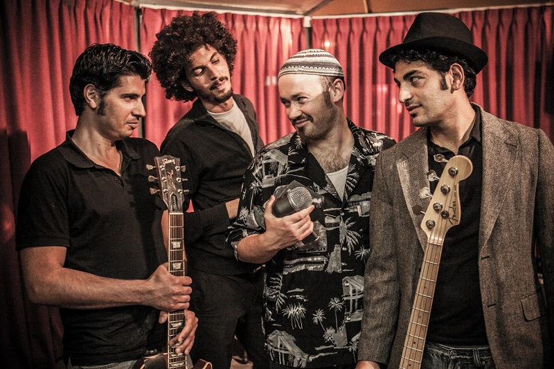 """להקת """"פריצת דיסק"""" (צילום: אביתר ניסן)"""