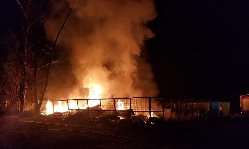 """שריפת אתר הפסולת והגזם בכפר ביל""""ו"""