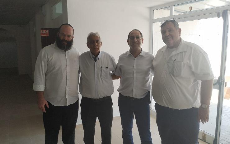 מימין: אבי מוזס, זהר בלום, שמואל מצרפי ואריה ליפסקר