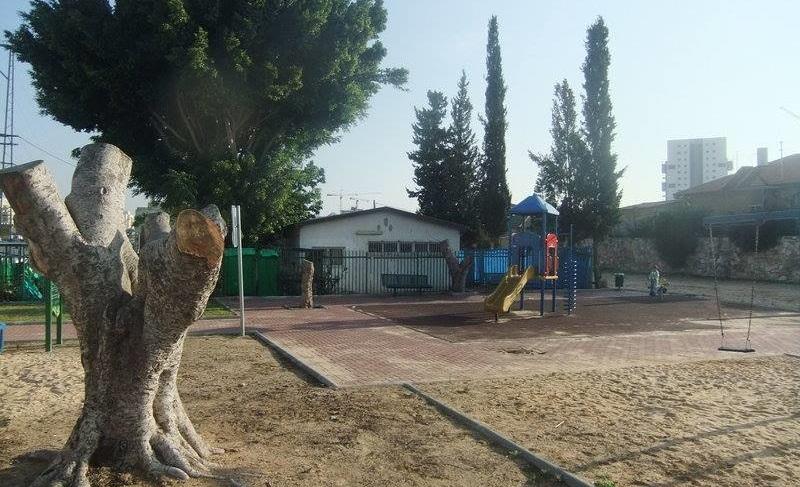 הגן הציבורי ברחוב יהודה הלוי בשכונת שעריים