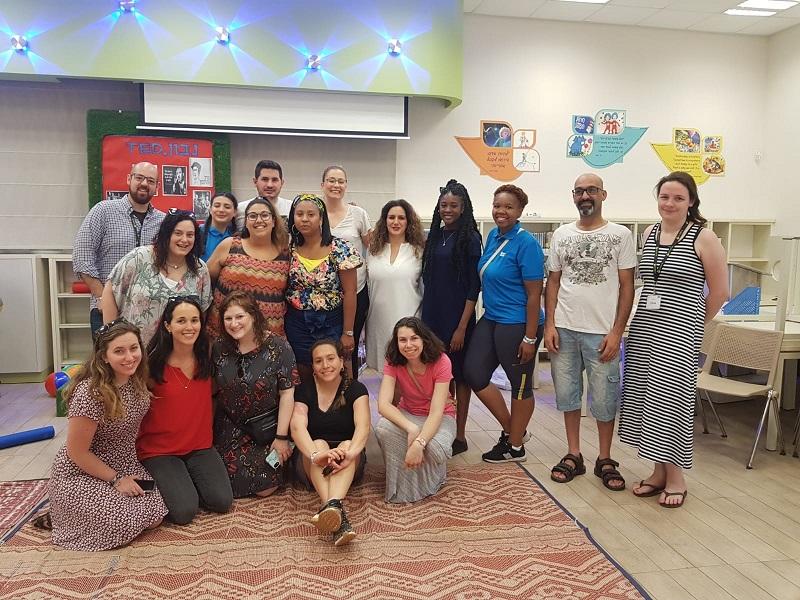 נבחרת המורים בקייטנת האנגלית
