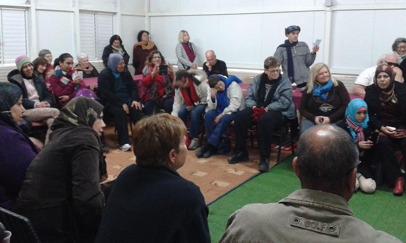 מפגש תושבי רחובות עם תושבי רהט