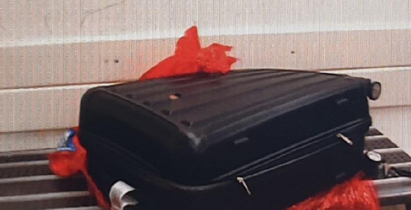 אחת המזוודות שהכילו קוקאין (צילום: דוברות המשטרה)