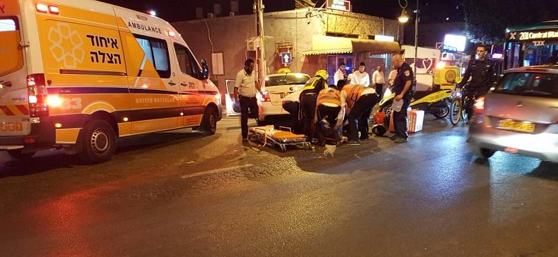 תאונת דרכים ברחוב הרצל