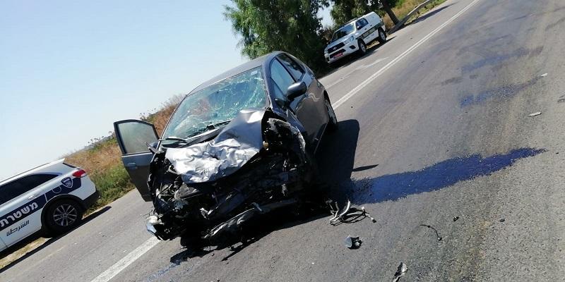 תאונה ביציאה הדרומית מבית אלעזרי