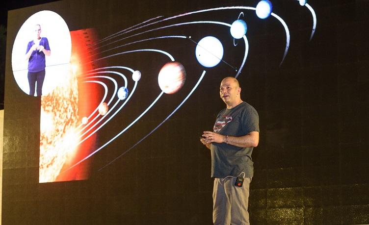 הרצאה על אסטרונומיה (צילום: מכון ויצמן למדע)