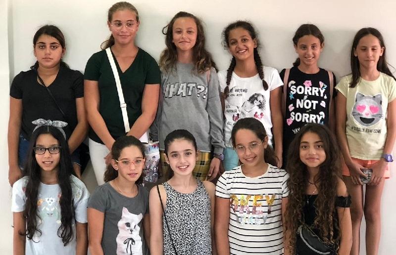 חלק מבני הנוער שהשתתפו במיזם בחלומוטף