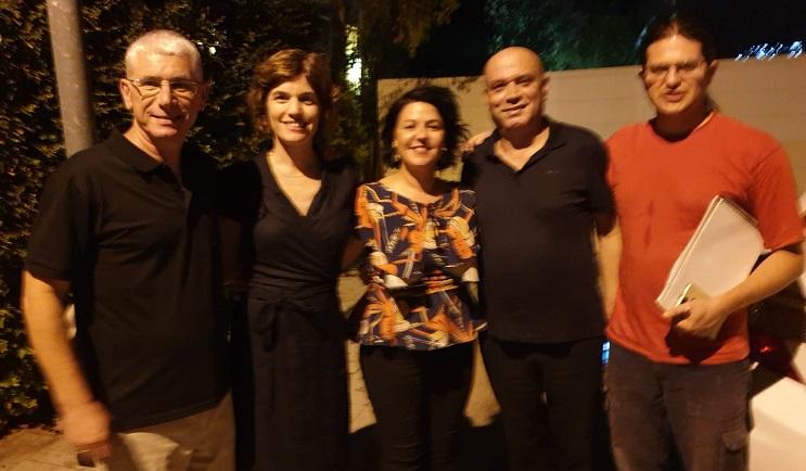 משמאל: לואיס בר ניר, תמר זנדברג, איטל בציר אלשיך, עיסאוי פריג' והרן יקיר