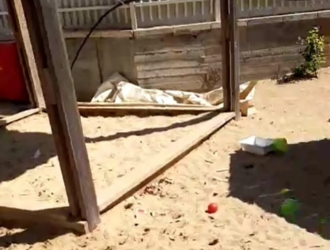 החול בגן הילדים