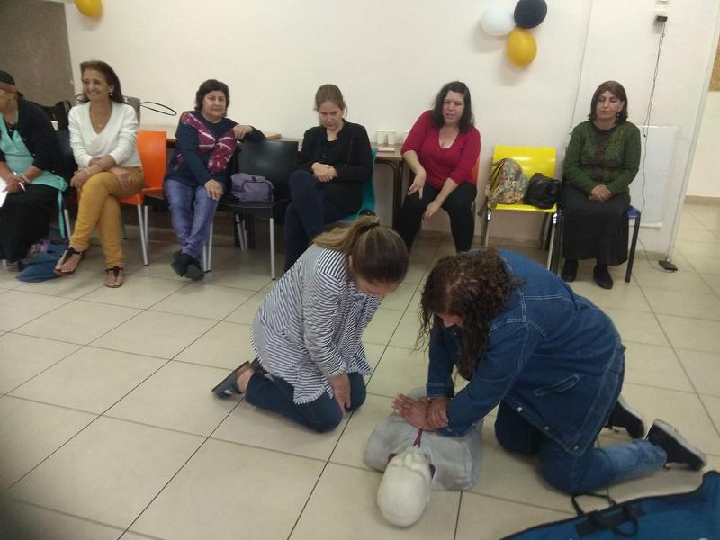 עובדות צהרוני חוויות בקורס עזרה ראשונה