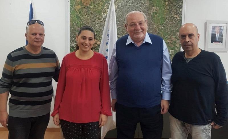מימין: אודי בבז׳אנוב, רחמים מלול, אורית שרגאי ואבי לנדסמן