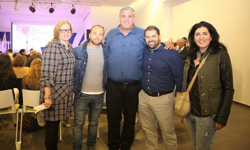 משמאל: מירב אהרון, איתמר הרשקו, אמיתי כהן, אלרואי אסרף ואתי מקדסי (צילום: דורית גוזי)