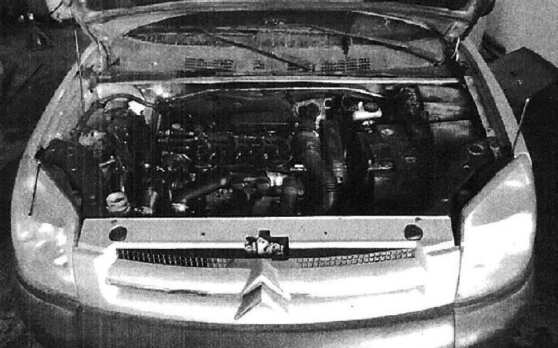 הרכב שניזוק במהלך הטסט (צילום: מתוך כתב התביעה)