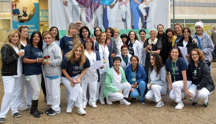 אירוע לרגל שנת האחות הבינלאומית בקפלן (צילום: גלעד שעבני)