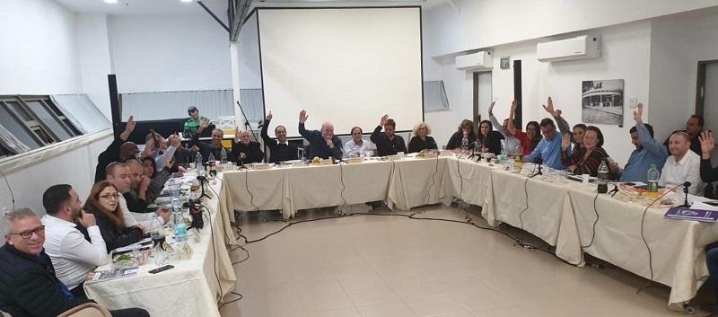 חברי מועצת רחובות בהצבעה לאישור תקציב העיר לשנת 2020