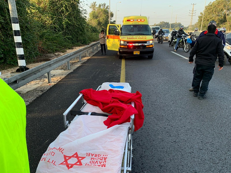 תאונת אופנוע סמוך לצומת רחובות מזרח