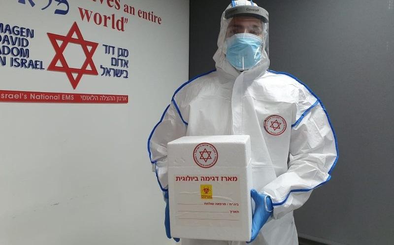"""בדיקות קורונה (צילום: דוברות מד""""א)"""