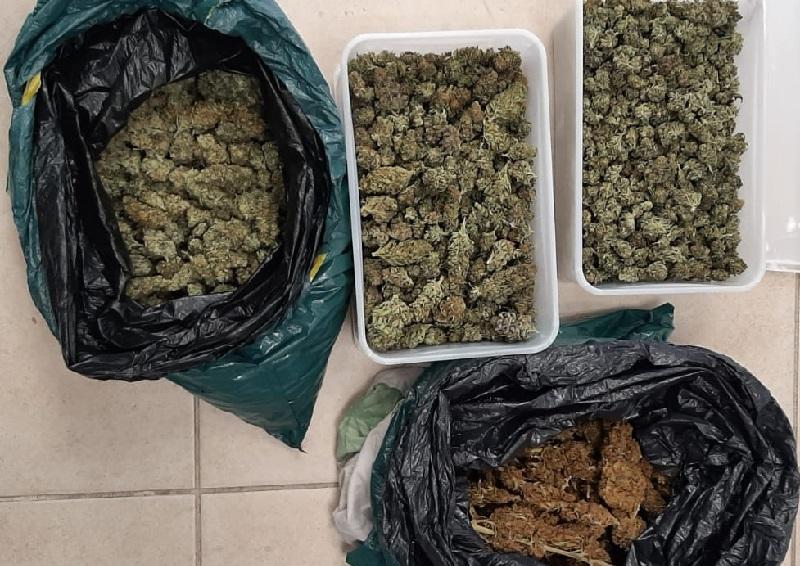 הסמים שתפסה המשטרה (צילום: דוברות המשטרה)