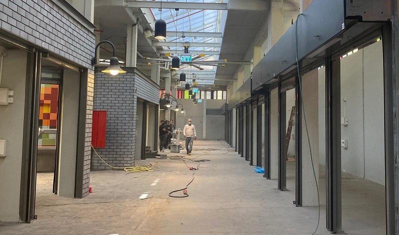 השוק העירוני במהלך העבודות (צילום: עיריית רחובות)