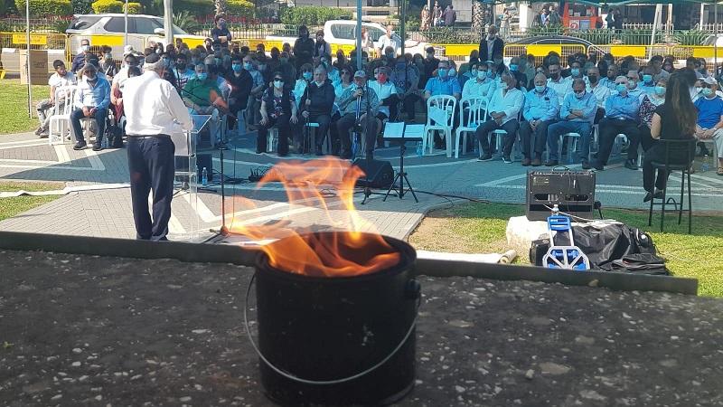 הטקס לציון יום השואה והגבורה