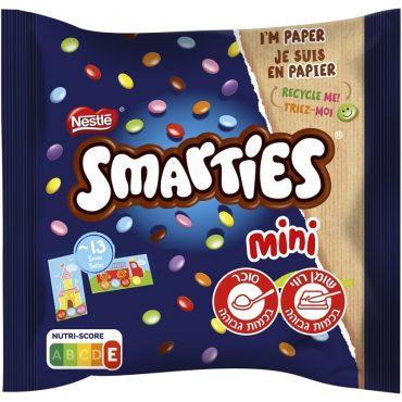 שוקולד סמארטיס עובר לאריזות נייר (צילום: סטודיו אסם)
