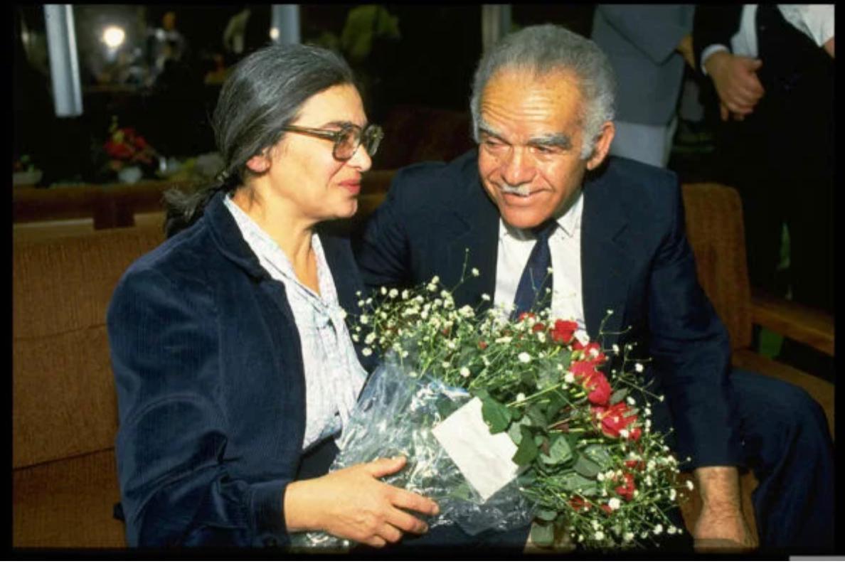 אידה נודל מתקבלת עי ראש הממשלה יצחק שמיר עם בואה לישראל, צילום: נתי הרניק, לשכת העיתונות הממשלתית